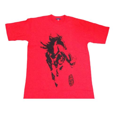 Майка красная с Лошадью