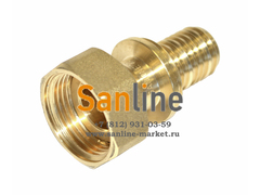 "Переходник Sanline 20x1/2"" с гайкой (Латунь)"