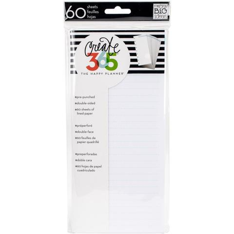 Внутренний блок для ежедневника Create 365 Happy Planner Fill Paper -Blue Lined -60шт