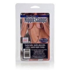 Цепь с зажимами для сосков Silver Beaded Nipple Clamps