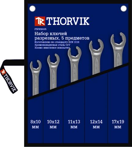 FNWS005 Набор ключей гаечных разрезных в сумке, 8-19 мм, 5 предметов