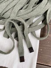 Шнур плоский 15мм, серо-зеленый