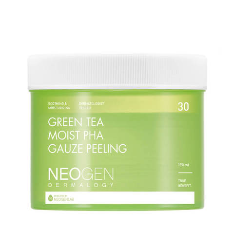 Neogen Dermalogy Green Tea Moist PHA Gauze Peeling  Пилинг-пэды с зеленым чаем