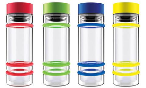 Бутылка Asobu Bumper (0,4 литра), голубая