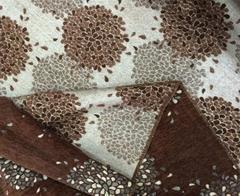 Шенилл SW-7 коричневый цветок двусторонний
