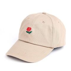 Кепка с логотипом The Hundreds (Роза) светло-бежевая