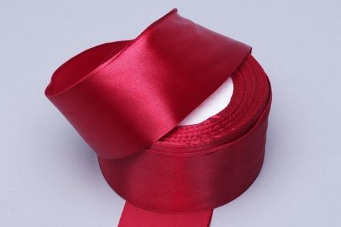 Лента атласная (размер: 50мм х 30м) Цвет:бордовая