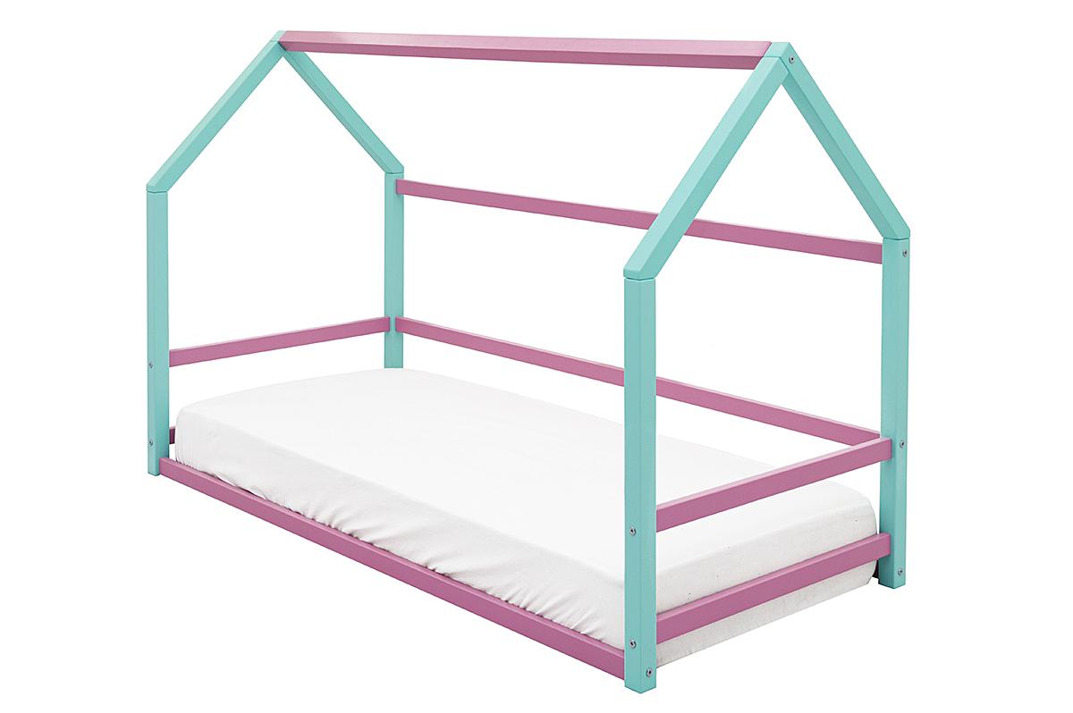 Кровать-домик Монтессори «Svogen» мятный-лаванда