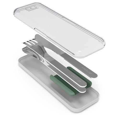 Набор столовых приборов в футляре mb slim box, зеленый, 3 шт.
