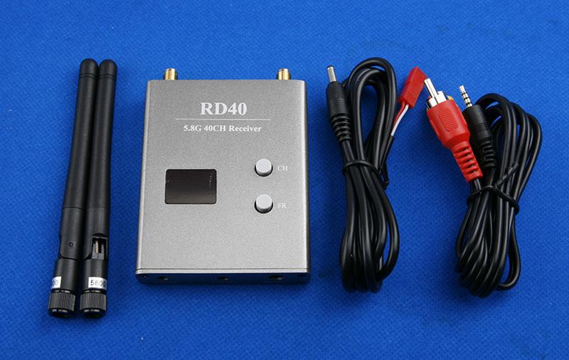 Комплектация приёмника FPV Skyzone RD40 5.8 ГГц на 40 каналов