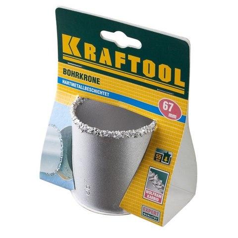 Коронка KRAFTOOL кольцевая с напылением из карбида вольфрама, 67мм