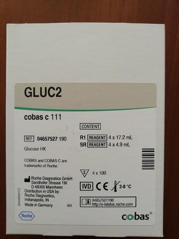 Глюкоза (гексокиназный метод) (Glucose HK cobas с system ( GLUC2)), 4х100тестов, Roche Diagnostics GmbH, Германия