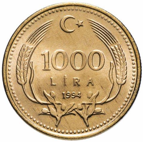 1000 лир. Турция. 1994 год. UNC