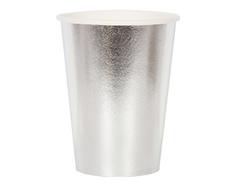 Стакан фольгированный Серебро / 210мл, 6 шт.