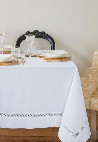 Скатерть с тефлоновым покрытием HOLIDAY белая Bovi Португалия