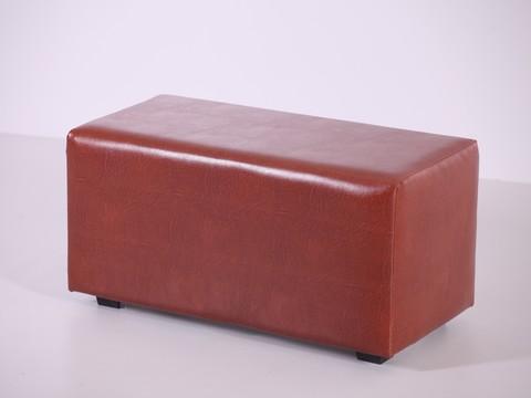 Пф-02 Пуфик прямоугольный (коричневый) для дома и магазина