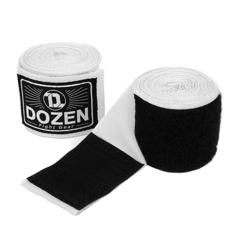 Бинты белые Dozen Monochrome Semi-elastic  общий вид