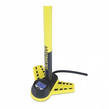 Насос напольный BBB AirStrike DGT steel pump digital gauge twisthead желтый