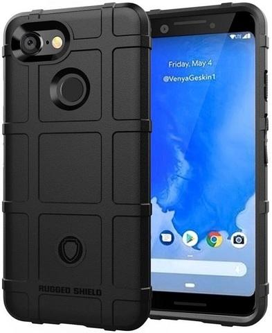 Чехол на Google Pixel 3 цвет Black (черный), серия Armor от Caseport