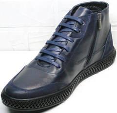 Осенне зимние ботинки в спортивном стиле Luciano Bellini BC2802 L Blue.