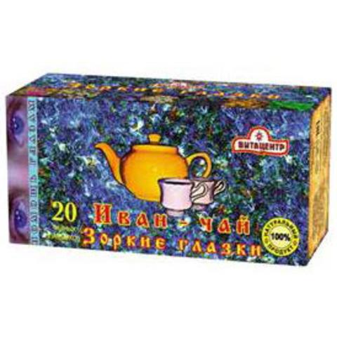 Иван-чай Зоркие глазки со зверобоем (20 фильтр-пакетов) Витацентр, 40г