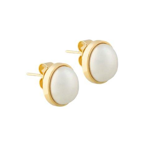 Пусеты White Pearl A0976.1 BW/G
