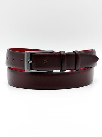 Ремень для брюк тёмно-бордовый Doublecity RC35-26-13