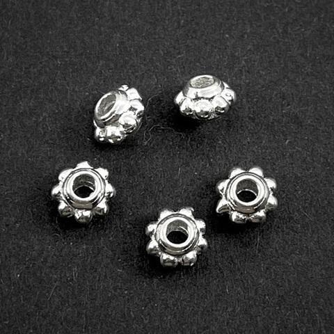 Разделитель Инки 5,5 мм светлое серебро 925