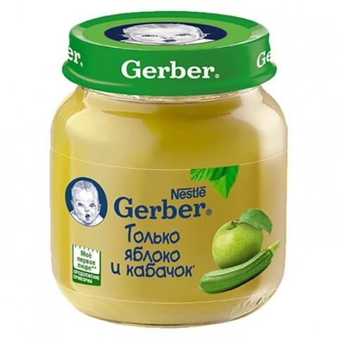 Gerber® Овощное пюре яблоко и кабачок 130 гр