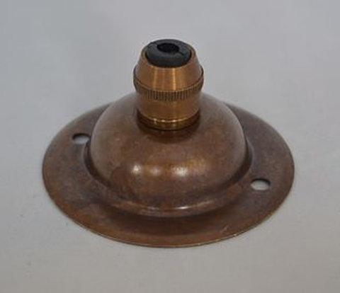 Чашка потолочная латунная, с зажимом для провода (Состаренная Латунь)