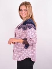 Галина. Стильная блуза для больших размеров. Пудра.