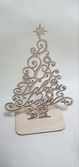 Елка деревянная для творчества, 21*28 см, 1 шт.