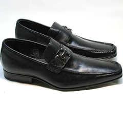 Классические мужские туфли из натуральной кожи Mariner 4901 Black.