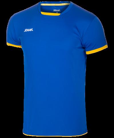 Футболка волейбольная JVT-1030-074, синий/желтый, детская