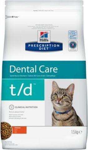 8688 ХИЛЛc ДИЕТА сух.д/кошек T/D лечение заболеваний полости рта 1,5кг*6