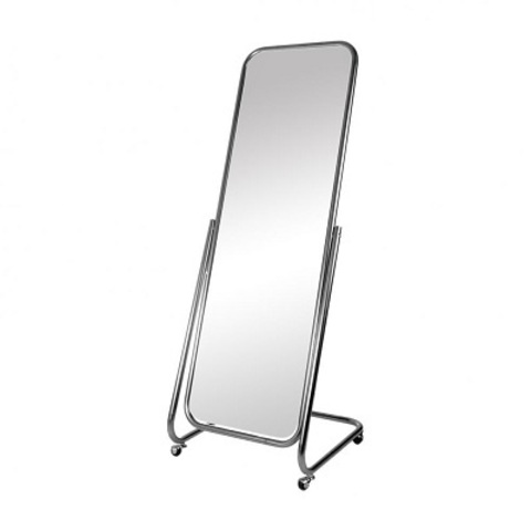 Зеркало напольное 5МL-03K с изменением угла на колёсах 550Lх500x1600H, хром
