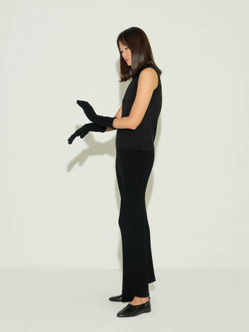 Женские брюки черного цвета из шерсти и кашемира - фото 5