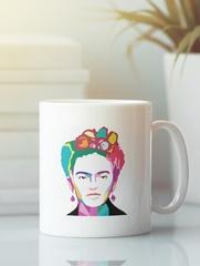Кружка с рисунком Фрида Кало (Frida Kahlo) белая 007