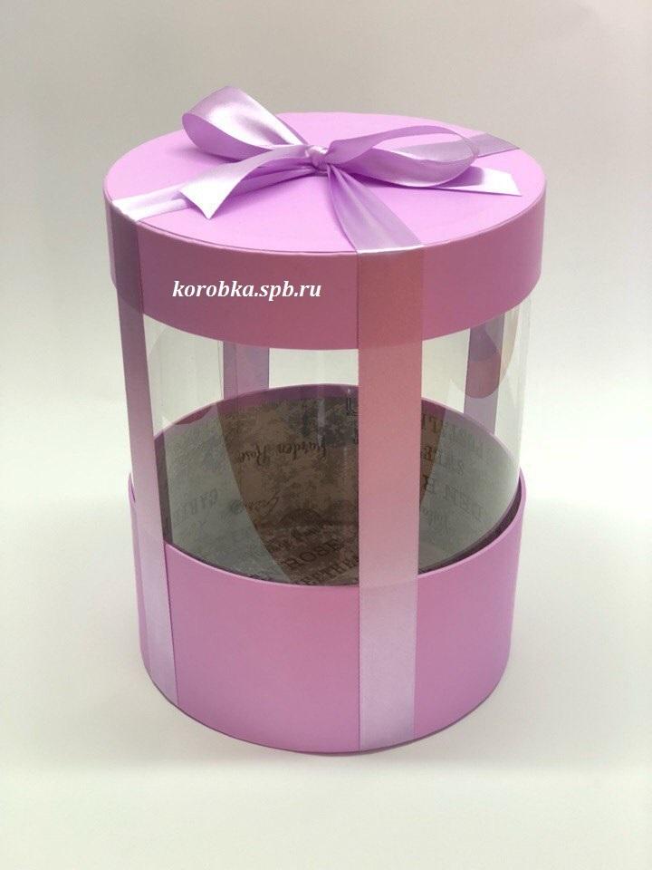 Коробка аквариум 18 см Цвет : Светло лиловый . Розница 350 рублей .