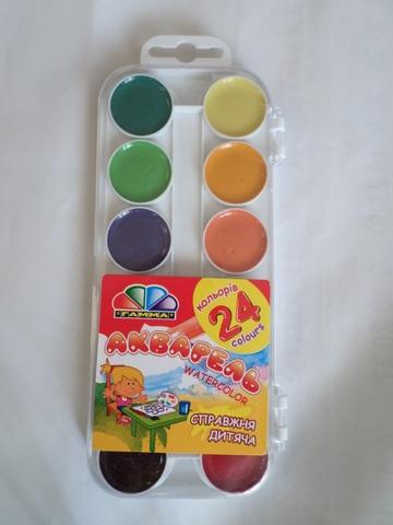 Акварельные краски Гамма 24 цвета