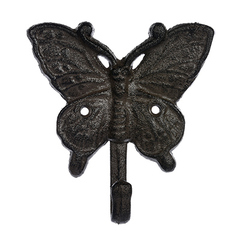 Крючок чугунный в ассортименте (бабочка, стрекоза, божья коровка)