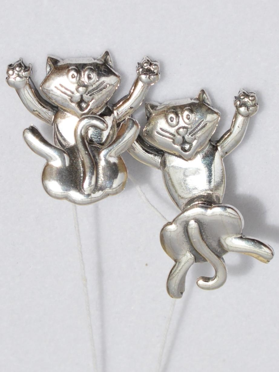 Коты 1  (серьги из серебра)