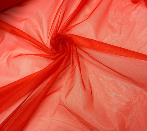 Сетка неэластичная ярко-красная средне-мягкая 20*35 см