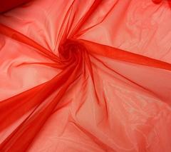 Сетка неэластичная ярко-красная средне-мягкая