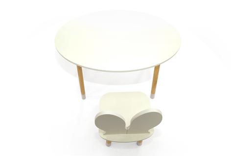 Стол «Stumpa» овал белый