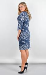 Луїза. Стильна сукня великих розмірів. Орнамент.