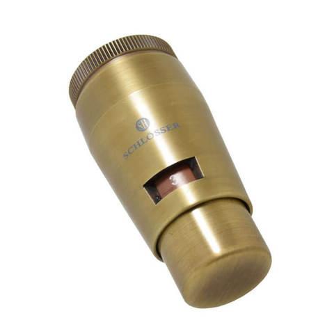 Термостатическая головка MINI M30x1,5 Античная Латунь