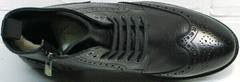 Стильные ботинки мужские зимние кожаные классические LucianoBelliniBC3801L-Black .