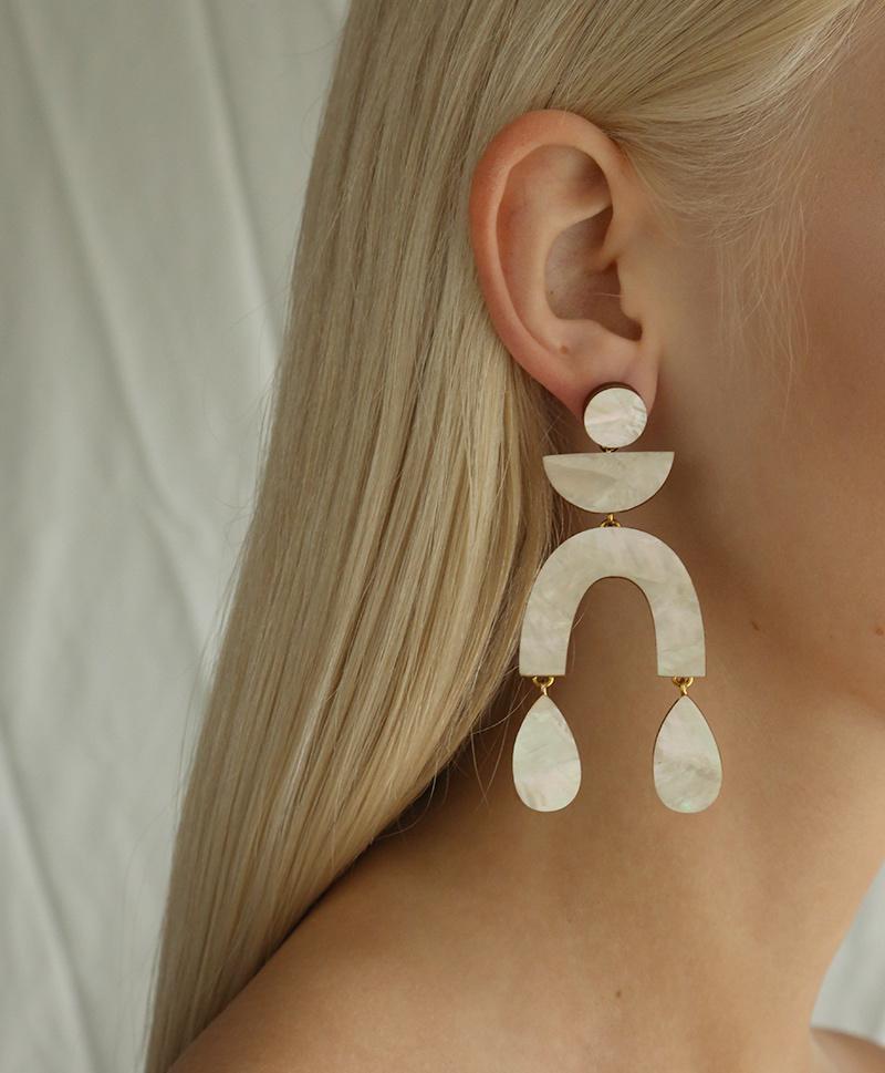 Серьги Corbero Earrings Mother of Pearl