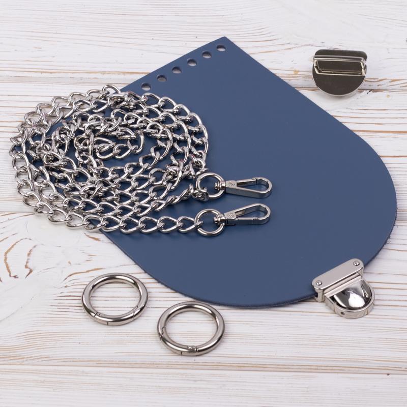 """Комплект для сумочки """"Орео"""" с бесплатным видео уроком Комплект для сумочки Орео """"Синий"""" с цепочкой IMG_7118.jpg"""